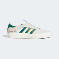 adidas Men's Originals Matchbreak Super Shoes in White and Green Suede Trainers
