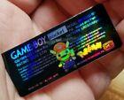 1 Nintendo Game Boy POCKET MGB-101 MARIO PIKACHU POKEMON HOLOGRAPHIC   LABEL