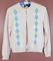 SC000726- BROOKS BROTHERS Women's Silk Cotton Twinset Cardigan Sweater Pink M