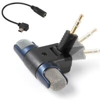 3.5mm Audio Microphone Mic + Mini USB Adapter Cable for GoPro HD Hero 4 3+ 3 Cam