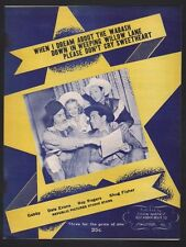 When I Dream About the Wabash Down In Weeping Willow Lane Roy Rogers Sheet Music
