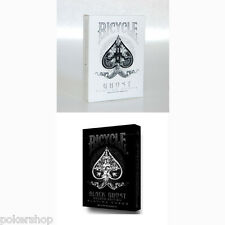 2 mazzi Carte Bicycle Black Ghost + White Ghost by Ellusionist