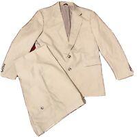 Men's Bronzini Suit 42R And Pants 36R Light Khaki Set In Excellent Condition