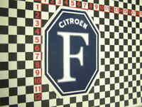 Citroen F Sticker - 2CV DS DS19 DS21 DS23 Ami 6 8 Arcadiane Dyane