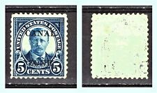 """CANAL ZONE - PANAMA 1927 Sc US-CZ-103 """"Theodore Roosevelt"""" 5c Perf 10,5 X 11 MNG"""