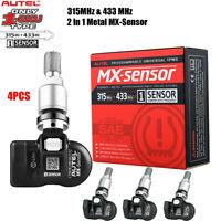 4pc Autel TPMS MX-Sensor 315&433MHz 2in1 Metal Programmable Tire Pressure Sensor