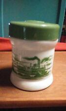 VTG Cigar Humidor. Delta Queen Image.  Milk Glass Tobacco Jar. 1960's RARE