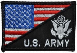 US Army Crest With Text USA Flag - 2.25x3.5 Patch