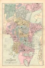 1895 ANTIQUE MAP - PLAN OF SOUTHAMPTON