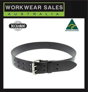 Buckaroo Black Leather Belt WB50 2inch/5cm wide