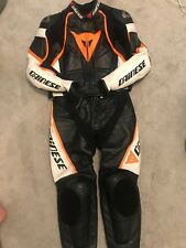 DAINESE LAGUNA Seca DIV KTM TWO piece MOTORCYCLE Motorbike Leather Race Suit 52