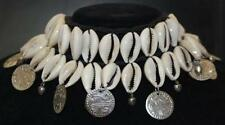 COWRIE SHELL TRIBAL KUCHI Style Belly Dance Dancing Necklace Coin Shimmy Choker