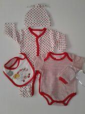 Baby girls clothes 5 piece apple set baby grow layette newborn 0-3 3-6 months