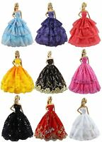 6Pcs Random Outfit Fashion Handmade Party Dress/Gown Clothes For Barbie Doll