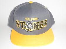 Volcom MASCOT Snapback Yellow Grey Hat OSFA ($26) NEW Cap Skate Surf Snow STONES