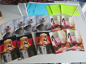 Lot of 11 Dog Daughter Reading Paper Dad Father's Day Card Greeting Avanti Press