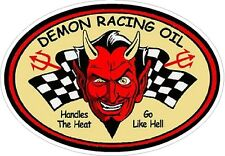 Demon Racing Oil Vintage Drag Racing sticker decal NHRA Rat Rod Street Rod