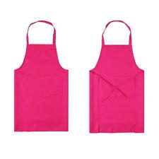 Thicken Cotton Polyester Blend Anti-wear Cooking Kitchen Bib Apron With Pockets