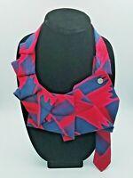 Women's Silk Ascot Tie Scarf Statement Necklace - Lilian Asterfield Designer Art