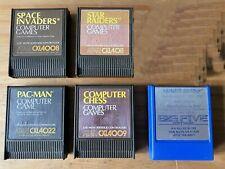 Selection Of 5 Cartridges For Atari XL/400/600 Retro Computers