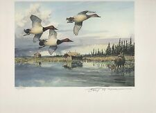ALASKA #8 1992  STATE DUCK STAMP PRINT CANVASBACK MEDALLION EDITION Reg $295
