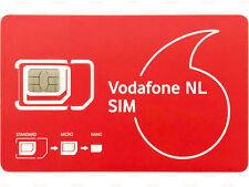Vodafone NL SIM Prepaid Aktiviert 10€ mindestens 6 Monate gültig Niederlande