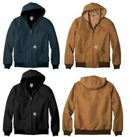 Men's Carhartt Thermal Lined Duck Active Jacket Coat Winter - FREE SHIP - J131
