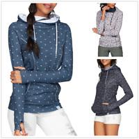Ladies Womens Girls Warm Hoodie Hoody Sweatshirt Hooded Jumper Jacket Coat Tops
