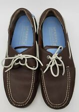 Sperry Top-Sider Leather Boat Shoes Mens 13 M Stringray Collection Classic Brown
