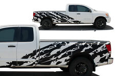 Custom Vinyl Decal SHRED Wrap Kit for Nissan Titan Truck 2004-13 Long Bed BLACK