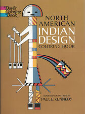 North American Indian Design Coloring Book Paul Kennedy Dover Native Americans