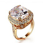 Rose Gold Plated Women Wedding Cocktail Ring Made With Swarovski Crystal R187
