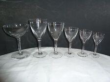 Vintage Fine Crystal Elegant Stemware 31pc Crystal Wine & Cordial Glasses