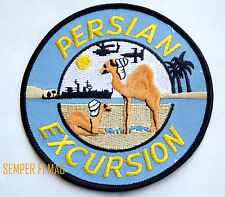 PERSIAN EXCURSION PATCH OEF ODS OIF PIN UP US ARMY MARINES NAVY AIR FORCE USCG
