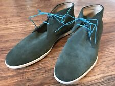 New Mens Tods Forest Green Short Ankle Boot In Suede Size 11m New $475