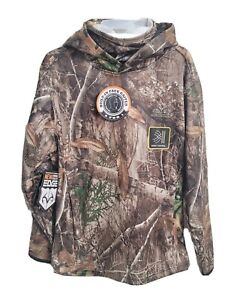 Realtree Edge Camo Hunting Hoodie w/Built-In Face Neck Gaiter Youth Large 10-12