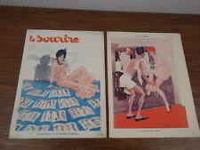 Revue LE SOURIRE 1933 Art Deco ill. PEM  PIN UP curiosa