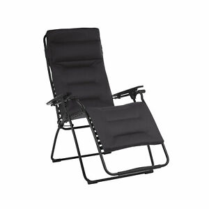 Lafuma Futura XL Air Comfort Series Outdoor Zero Gravity Lounge Chair, Black