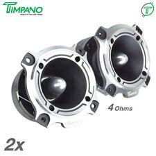 "2x Timpano 3.5"" ST4  Bullet Super Tweeters 500 Watts Car Audio 4 Ohm Titanium"