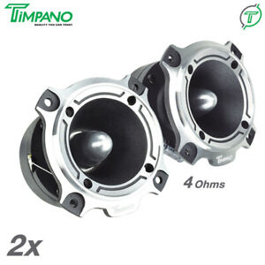 "2x Timpano 3.5"" ST4 Bullet Super Tweeters 500 Watts Car Audio 4 Ohm Titanium"