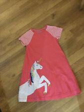 Mini Boden Girls Appliqué Dress Age 9-10 Years Unicorn