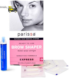 Parissa Eyebrow Wax Strips Hair Removal for Women with after Care Azulene Oil