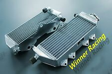 Right+Left Aluminum Radiator for Yamaha YZ250 YZ250X 2 stroke 2002-2018  Braced