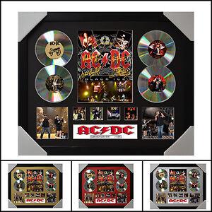 ACDC 4CD Signed Framed Memorabilia Limited Edition - 2017 - Multiple Variations