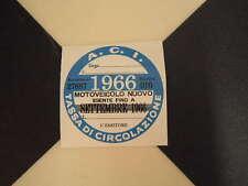 Disque fiscale italienne 1966-FIAT 500 600 126 Lancia Giulietta Beta ALFA GTV ABARTH