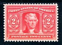 USAstamps Unused XF US 1904 Louisiana Purchase Scott 324 OG MLH Fresh