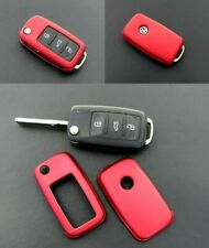 VW Remote Flip Key Cover Case Skin Shell Cap Fob Protection Metallic Red  2010-