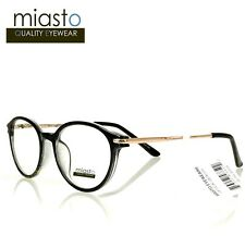 "NWT$39.99 MIASTO ""ARCHITECT"" RETRO ROUND PREPPY READER READING GLASSES+1.75"