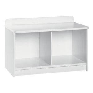 ClosetMaid Cubeical 149400 Heavy Duty Small Wood 2-Cube Storage Bench, White