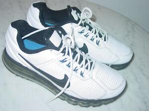 2014 Nike Air Max 2013 Black/White/Hyper Cobalt/Silver Running Shoes! Size 8
